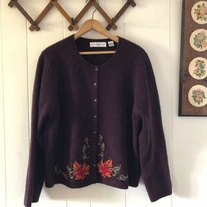 Vintage Autumnal Wool Cardigan